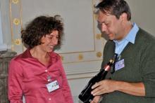 The winner of the best presentation award Francesca Tria