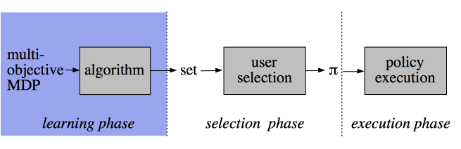 Multi-objective RL: decision support scenario